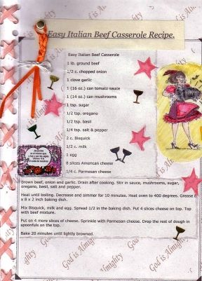 Embellished Latin Recipe Page