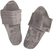 newspaper-slippers