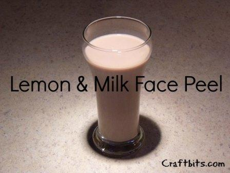 Lemon And Milk Face Peel