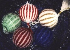 Knitting & Beaded Christmas Ornaments