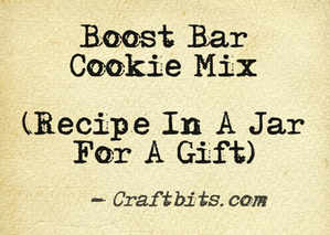 Boost Bar Cookie Mix
