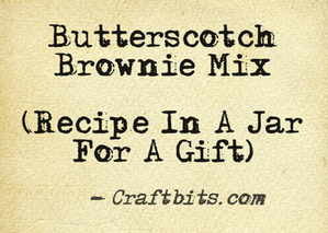 Butterscotch Brownie Mix