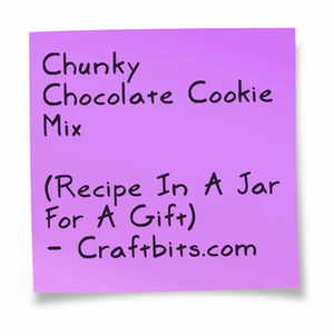 Chunky Chocolate Cookie Mix