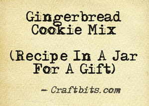 Gingerbread Cookie Mix Recipe