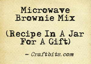 Microwave Brownie Recipe
