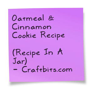 Oatmeal & Cinnamon Cookie Recipe