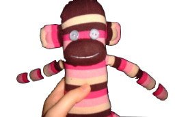 Sock Monkey Eyes with Buttons