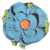 Crochet Flower – Blue Pansy