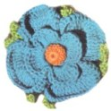 Crochet Flower - Blue Pansy