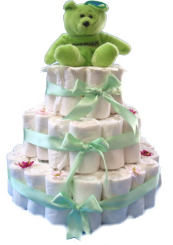 Baby – Disposable Diaper Cake – Rolled