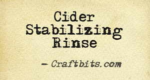Cider Stabilizing Rinse