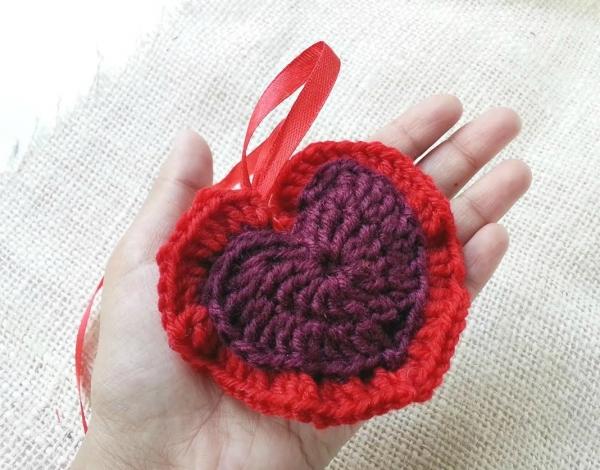 Heart Sachet Crochet Pattern