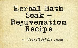Herbal Bath Rejuvenation Recipe
