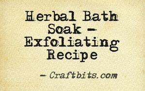 Herbal Bath Soak – Exfoliating