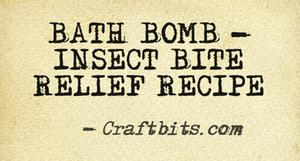 bath bomb insect bite relief recipe