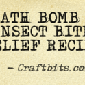 bath bomb insect bite relief recipe