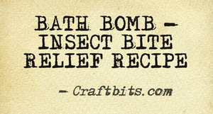 Bath Bomb – Insect Bite Relief
