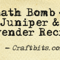 Bath bomb juniper lavender recipe