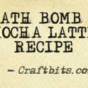 bath bomb mocha latte recipe