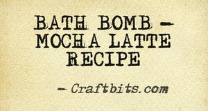 Bath Bomb – Mocha Latte