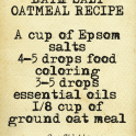 bath salt oatmeal recipe