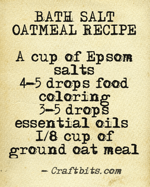 Bath Salt – Oatmeal
