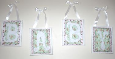 Canvas scrapbook letters