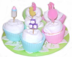 Baby Shower – Facewasher Cupcakes