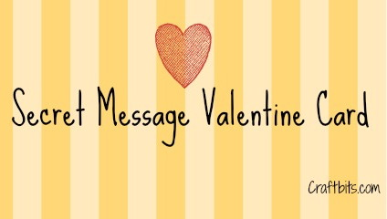 Secret Message Valentine Card