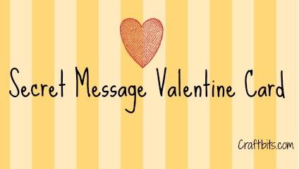 Secret Message Valentine Card