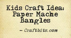 Paper Mache Bangle
