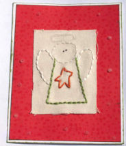 DIY Christmas Card: Stitched Angel