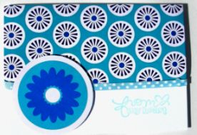 Blue Circle Valentine Sentiments Card