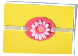 Simple Daisy Embellishment Card