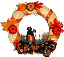 Halloween Pumpkin Wreath