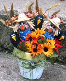 Scarecrow Patch in a Pot