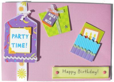 Sticker Birthday Card