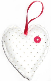 Felt Heart Tree Ornament