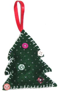 Tree Ornament – Felt Christmas Tree