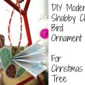 Shabby Chic Bird Tree Ornament