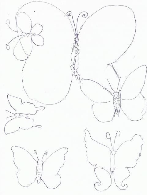 Butterfly Cut Out Template Easter Craft Stamps