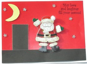 Christmas Card – Santa On The Roof
