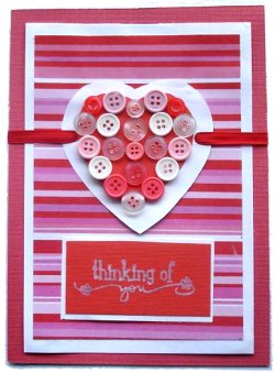 Valentines Card – Button Heart