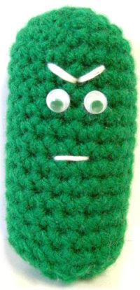 --:Christmas pickle crochet pattern:--
