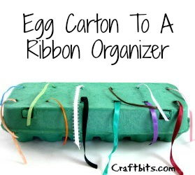 Egg Carton Ribbon Organizer