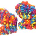 Knitted Funky Mitts For Children