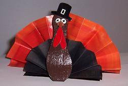 Paper Turkey Centerpiece