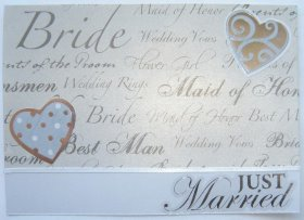 Cardmaking – Just Married Card
