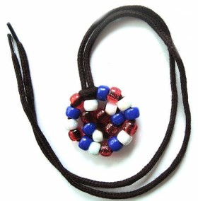 4th Of July Beaded Patriotic Amulet