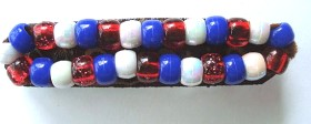 4th Of July Beaded Patriotic Barrette